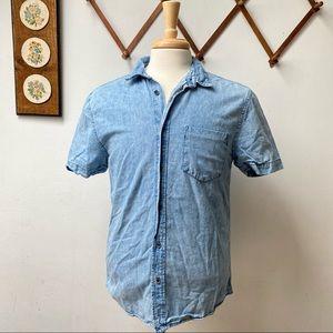 Zara Man Denim Button Down Shirt